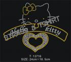 Hello Kitty coeur en strass E1